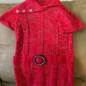 Red sparkle girls dress